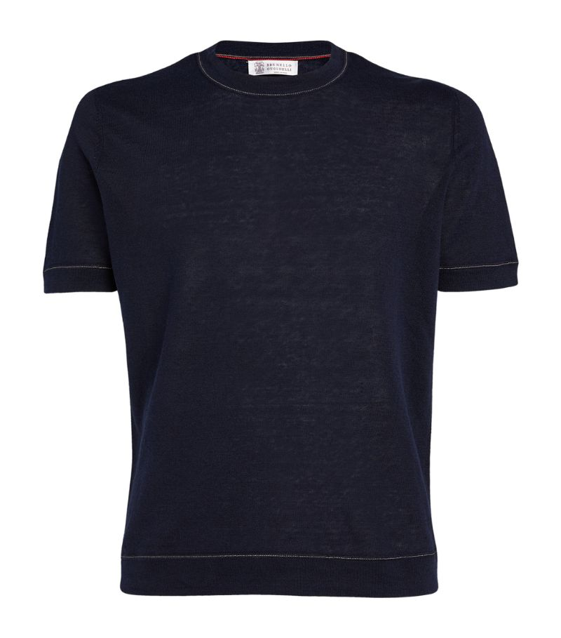 Brunello Cucinelli Linen-Cotton T-Shirt
