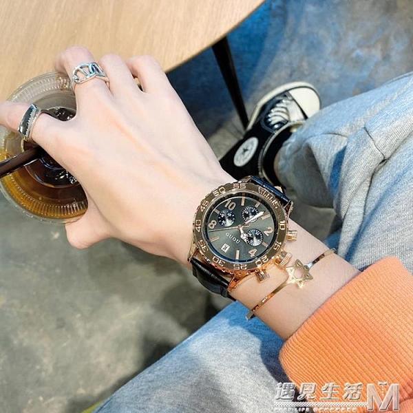 高級感霸氣黑色表盤手錶女簡約氣質復古港風高顏值皮帶款十大品牌 遇見生活