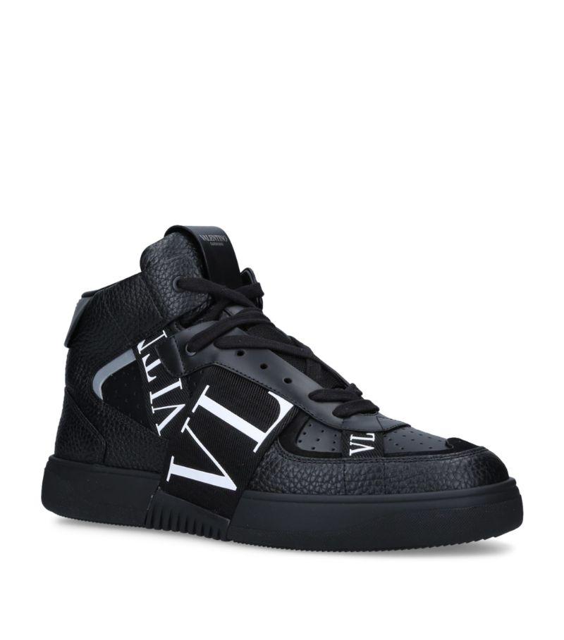 Valentino Valentino Garavani Leather Vl7N Mid-Top Sneakers