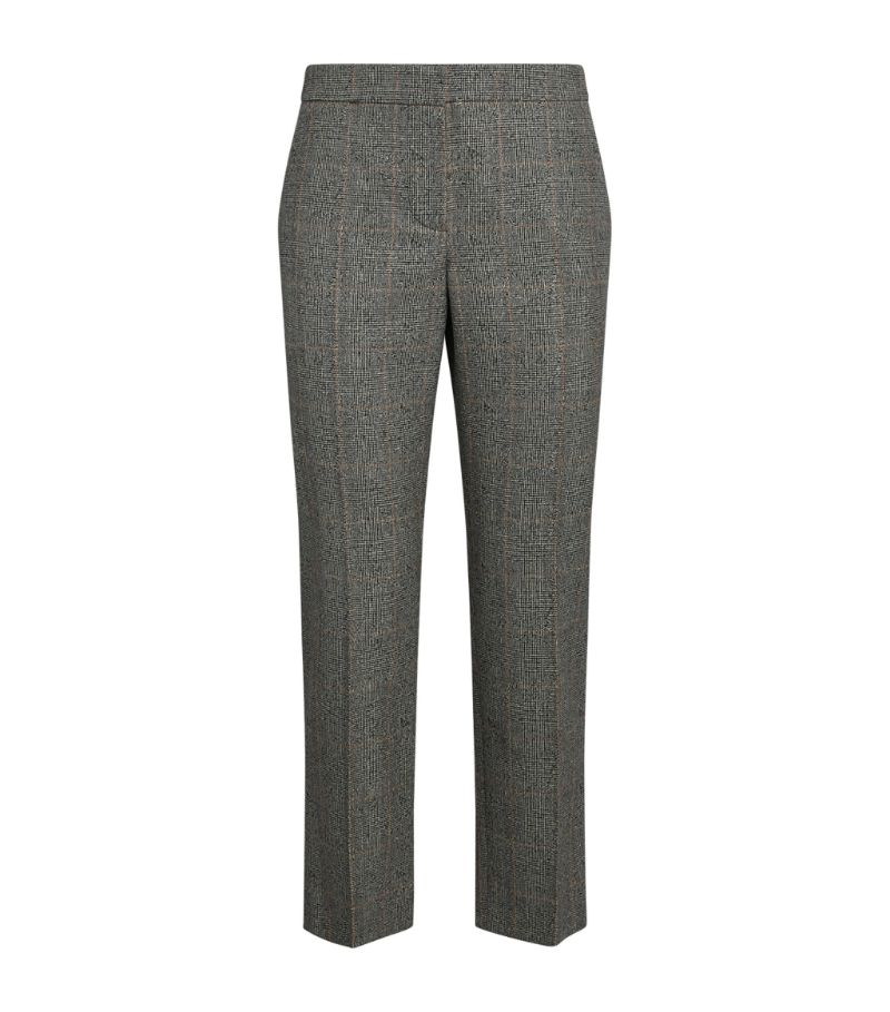 Alexander Mcqueen Check Cropped Trousers