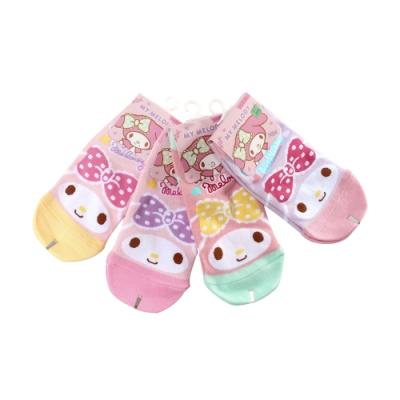 魔法Baby 中大女童襪(隨機3雙一組) 台灣製美樂蒂正版女童直版襪  k51527