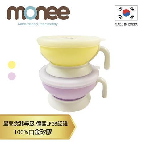 【韓國monee】100%白金矽膠寶寶智慧矽膠碗/2色
