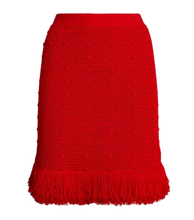 Bottega Veneta Pom-Pom Weave Skirt