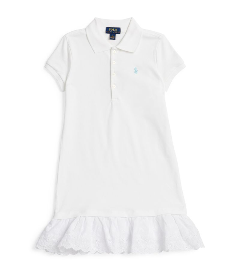 Ralph Lauren Kids Broderie Anglaise Polo Shirt Dress (7-14 Years)