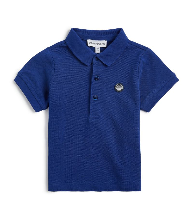 Emporio Armani Kids Logo-Patch Polo Shirt (4-16 Years)
