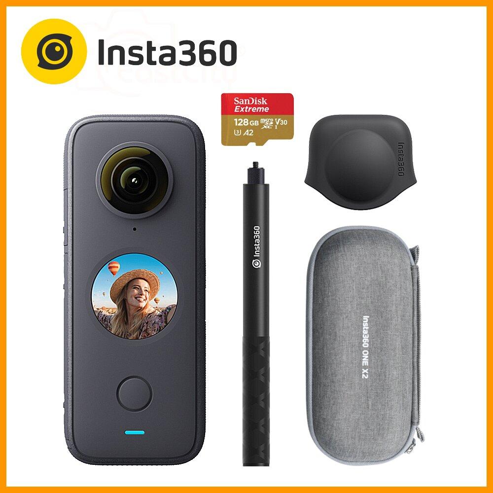 Insta360 ONE X2 全景相機 (東城代理商公司貨) 贈送128G卡+隱形自拍棒+鏡頭保護套+收納包