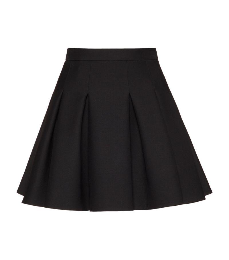 Valentino Wool-Silk Pleated Mini Skirt