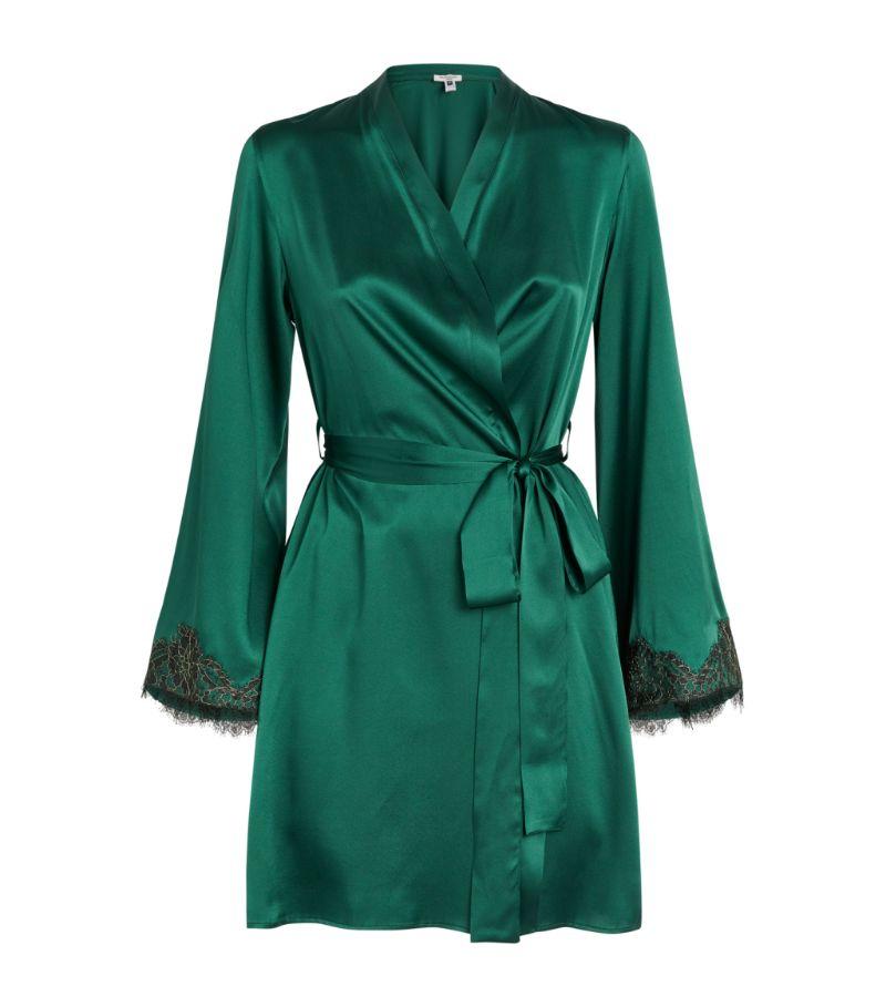 Gilda & Pearl Lace-Trim Robe