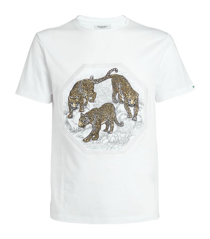 Stefano Ricci Embroidered Big Cat T-Shirt
