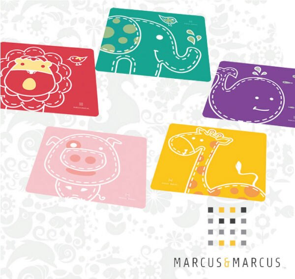 MARCUS&MARCUS 加拿大動物樂園矽膠餐墊