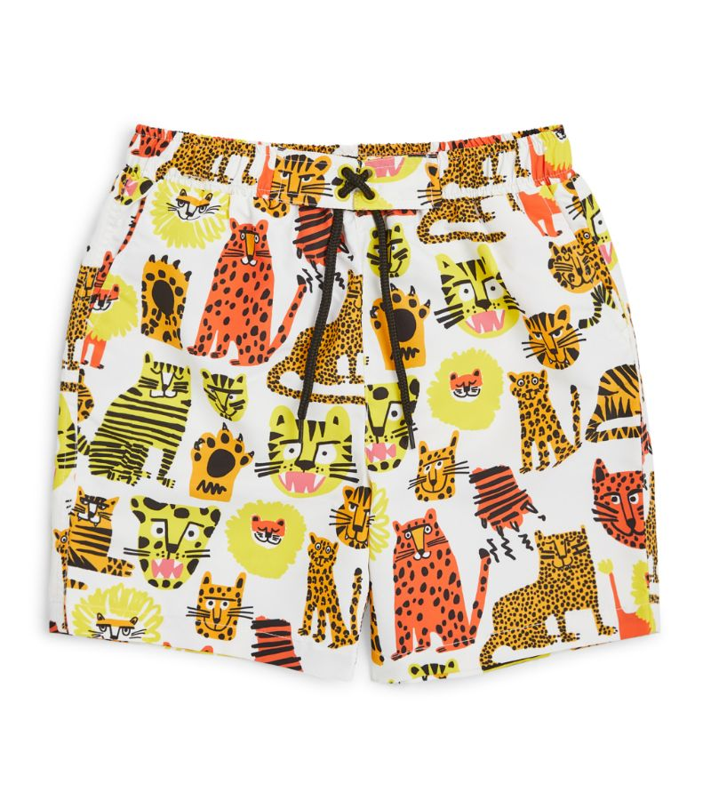 Stella Mccartney Kids Wild Cats Swim Shorts (3-24 Months)