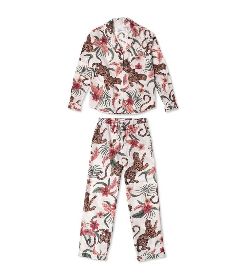 Desmond & Dempsey Soleia Leopard Long-Sleeved Pyjama Set