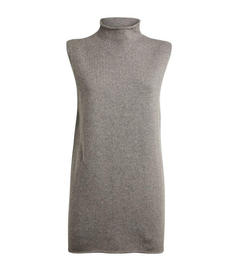 Deveaux Cashmere Rollneck Sweater Vest