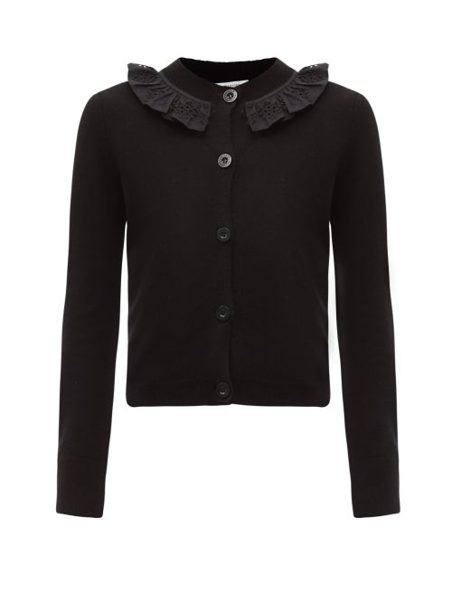 Cecilie Bahnsen - Farrah Ruffled Recycled Cashmere-blend Cardigan - Womens - Black