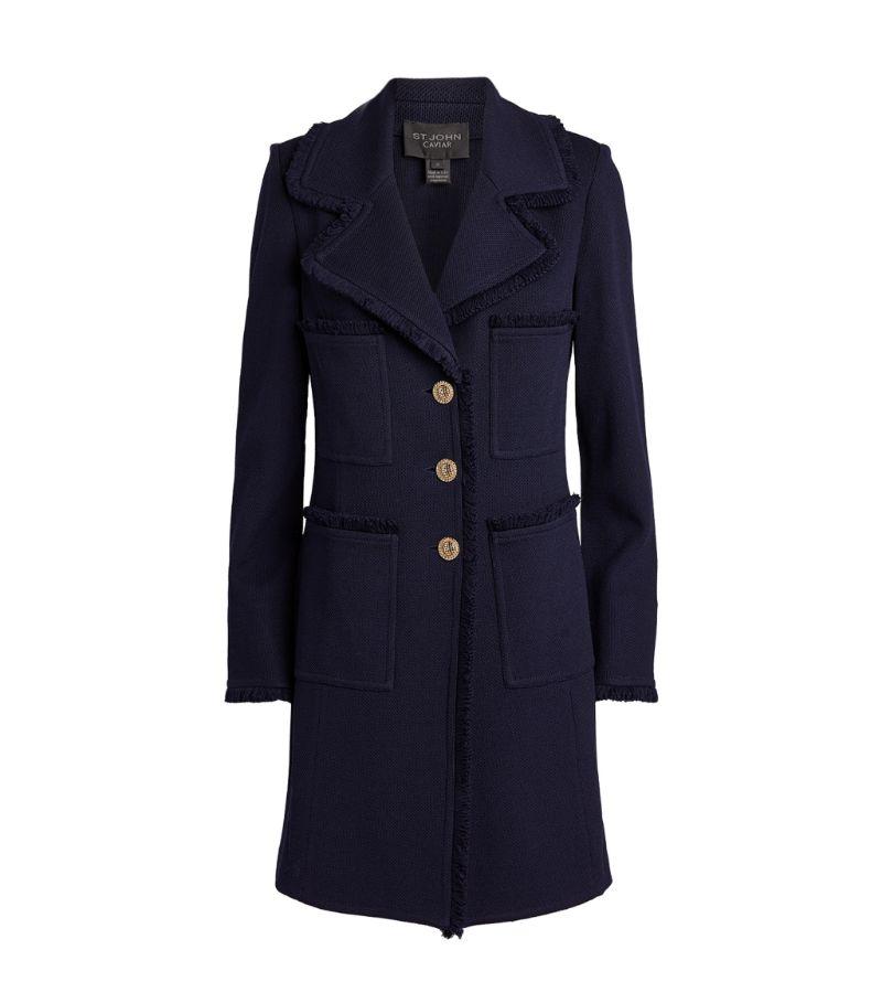 St. John Longline Milano Piqué Jacket