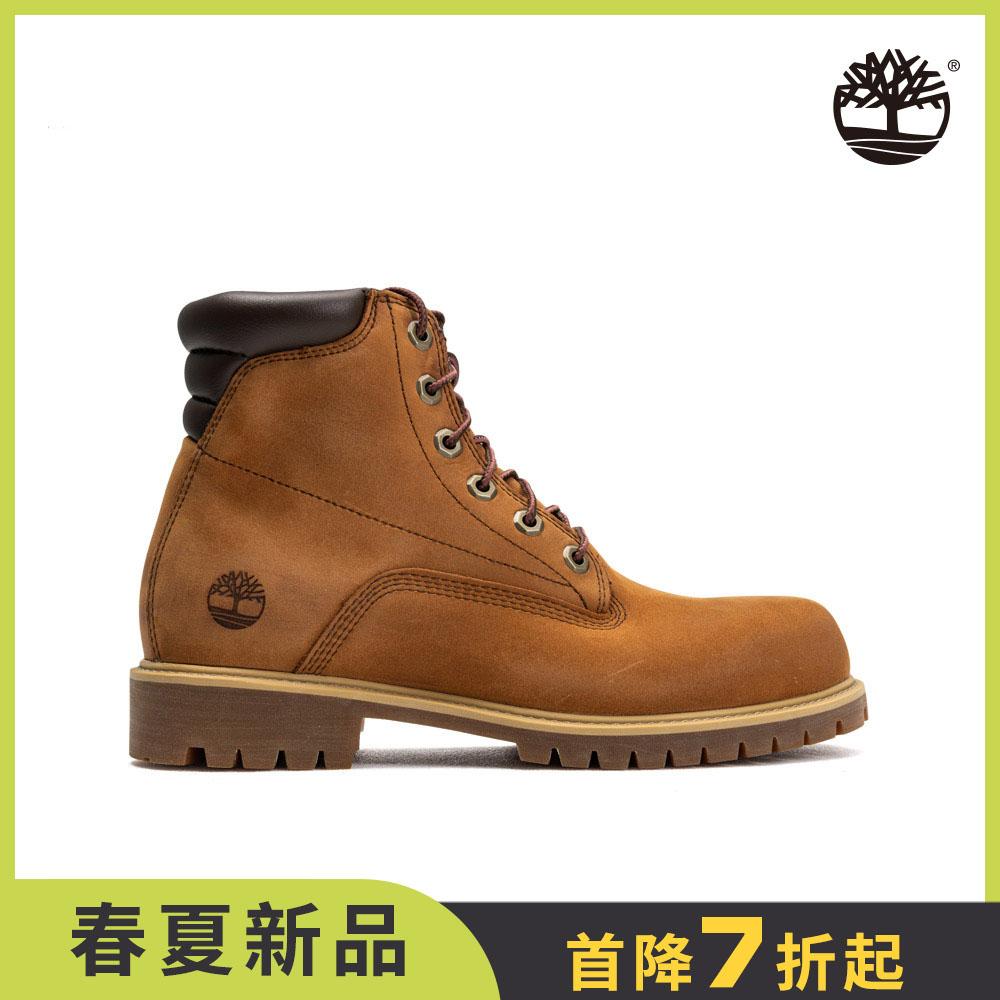 Timberland 男款棕色防水經典6吋靴|A1H8Q855