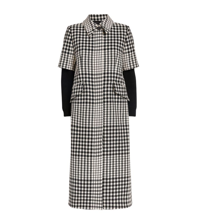 Mm6 Maison Margiela Longline Check Coat
