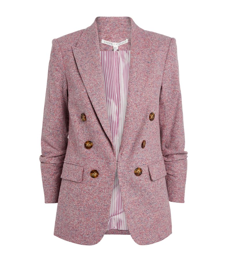 Veronica Beard Beacon Dickey Double-Breasted Blazer