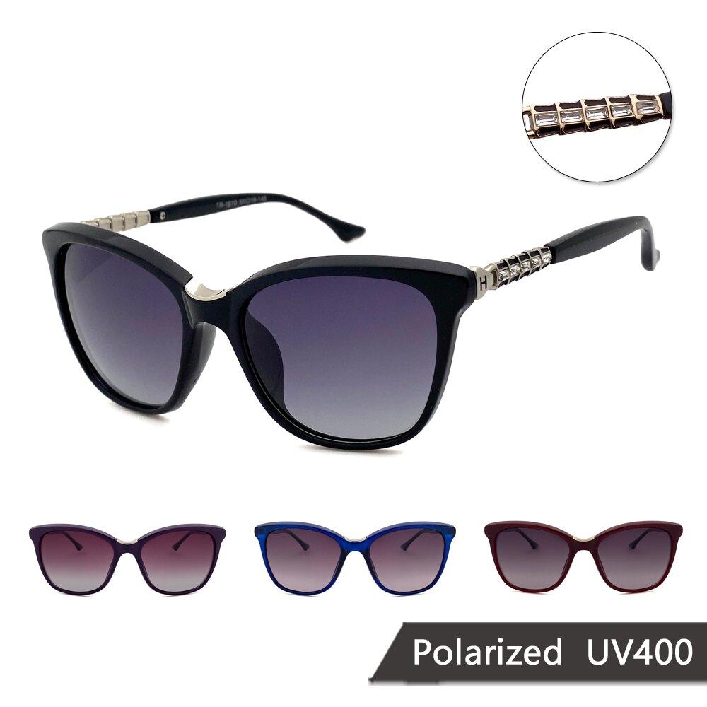 淑女系列偏光太陽眼鏡 水晶時尚款偏光墨鏡 抗UV(16810)