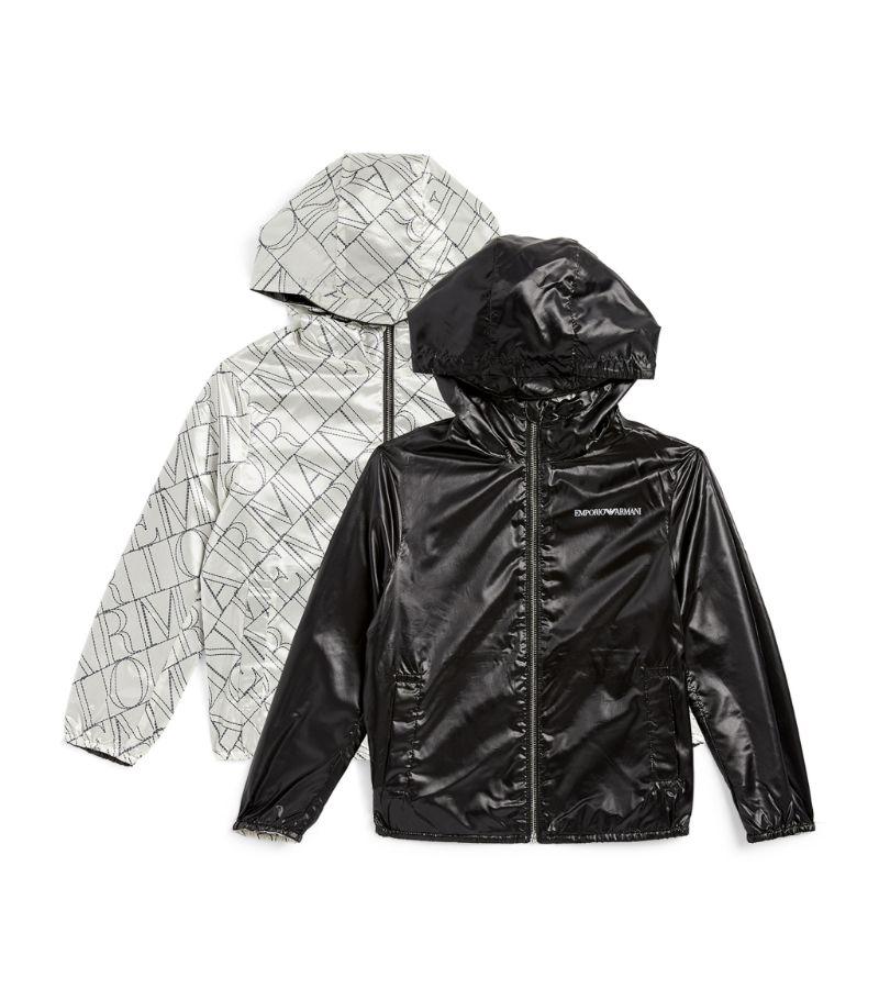 Emporio Armani Kids Logo Print Reversible Hooded Jacket (4-16 Years)