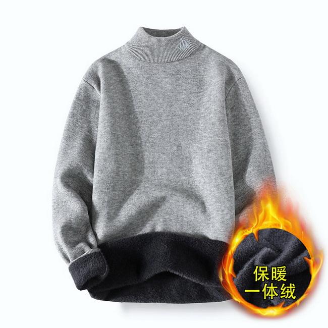 FOFU-(任選2件980)一體絨針織線衣寬鬆版套頭毛衣【08SB00161】