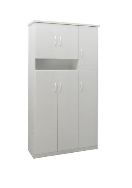 【環保傢俱】塑鋼鞋櫃.塑鋼置物櫃 (整台可水洗)活動隔板 232-01