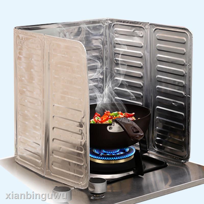 精美商品日本進口廚房擋油板防油板煤氣灶臺隔熱板鋁箔防油濺擋板隔油板