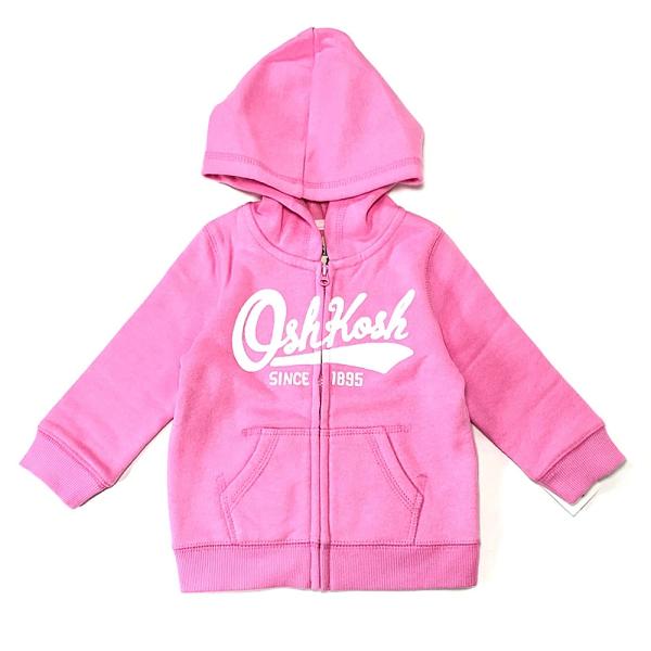 女寶寶薄連帽外套 純棉舒適材質 粉色 | Oshkosh童裝 (嬰幼兒/兒童/小孩/小朋友/新生兒)