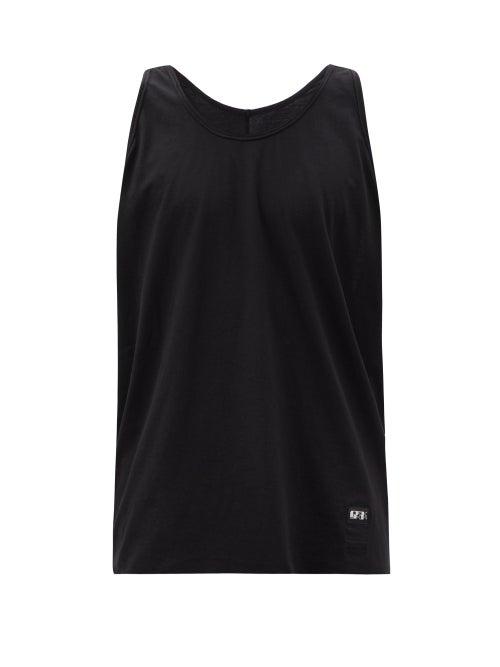Rick Owens Drkshdw - Level Scoop-neck Cotton-jersey Tank Top - Mens - Black