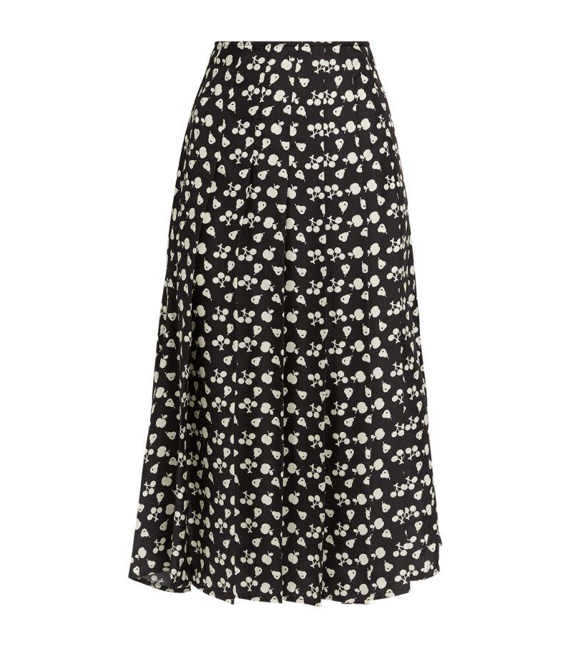 Victoria Beckham Printed Midi Skirt