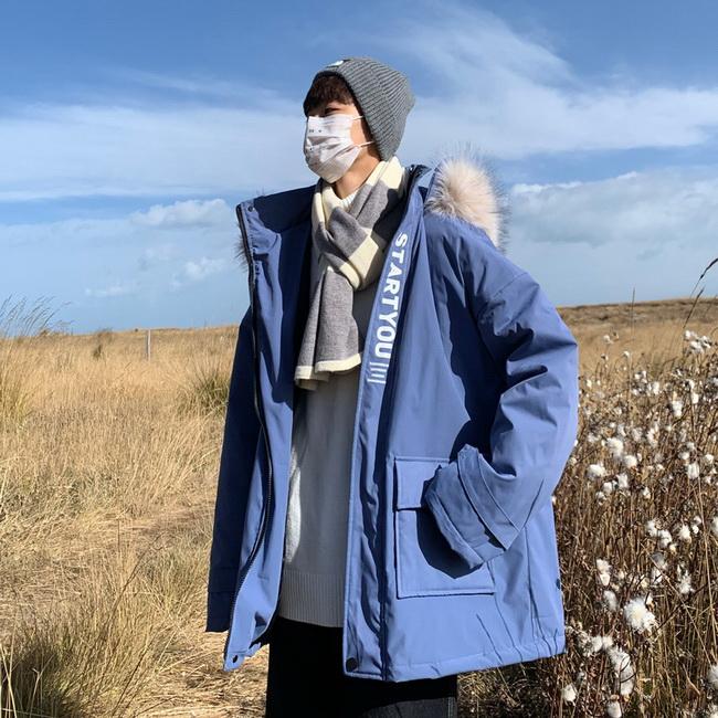 FOFU-雜誌風鋪棉外套寬鬆連帽大毛領上衣休閒潮流外套【08SB00208】