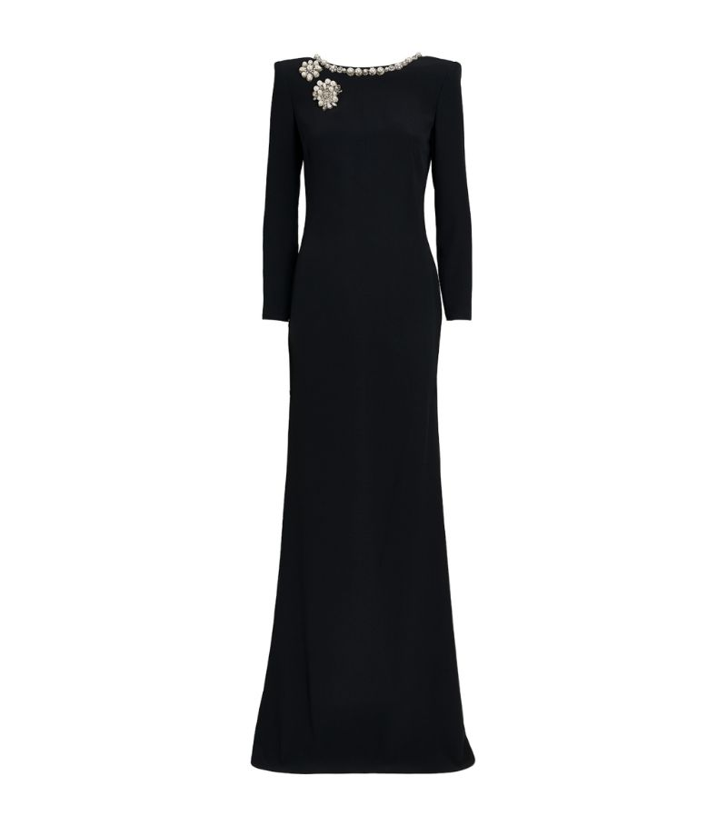 Alexander Mcqueen Embellished Backless Gown