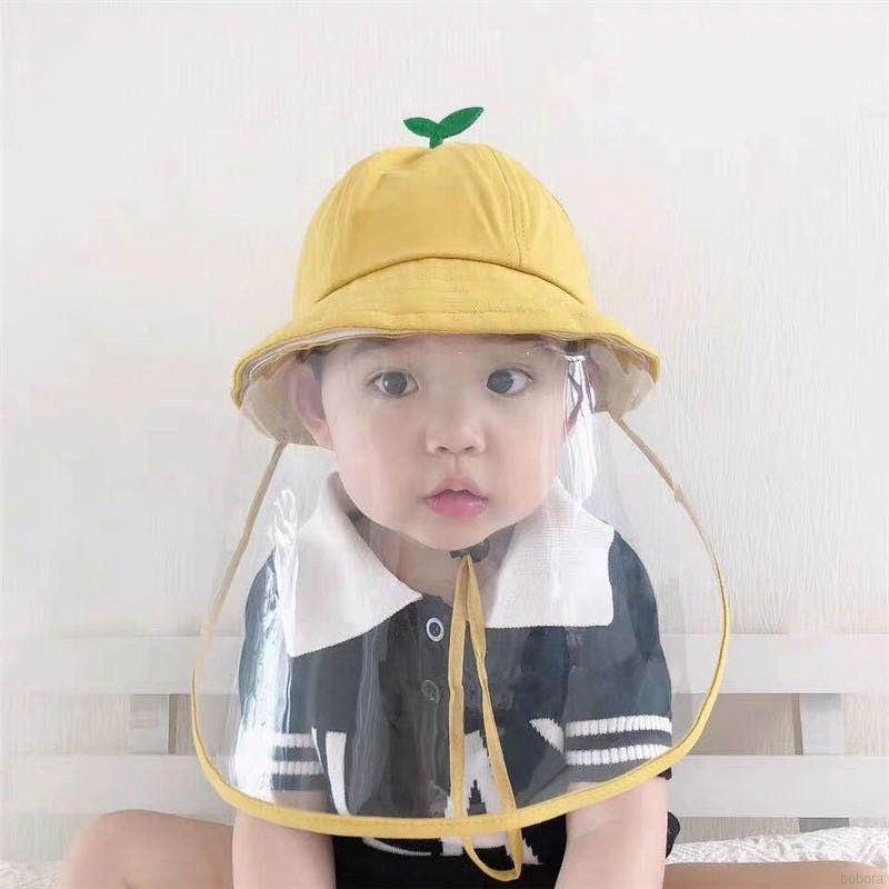 BOBORA 嬰兒帽子 春天防護帽 女寶寶防飛沫盆帽 薄兒童漁夫帽 夏季太陽帽 兒童遮陽帽