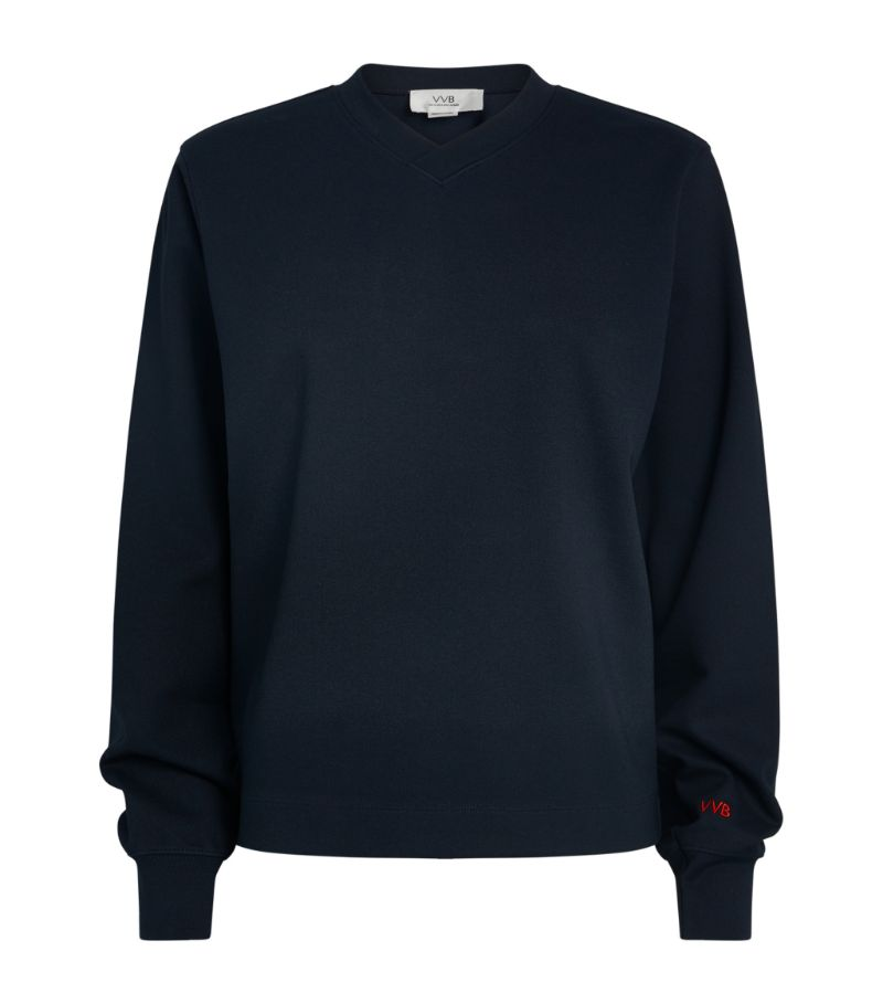 Victoria Beckham Logo Embroidered Sweatshirt