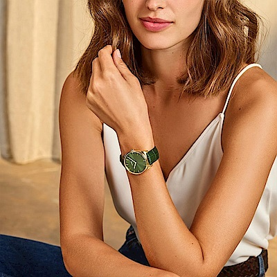 CLUSE Féroce 耀眼手錶-金框綠底/36mm