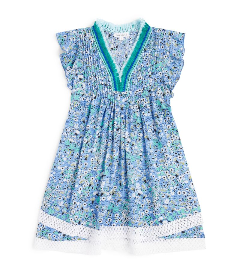 Poupette St Barth Kids Sasha Lace-Trim Dress (5-12 Years)