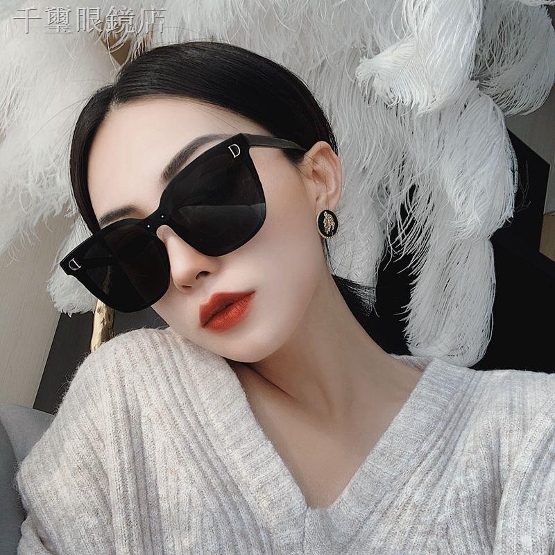 ✉⊕❂網紅潮款連體無邊框超黑色偏光墨鏡女大框圓臉街拍太陽鏡方框眼鏡