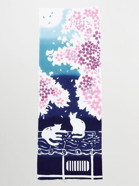TENUGUI毛巾-櫻花貓