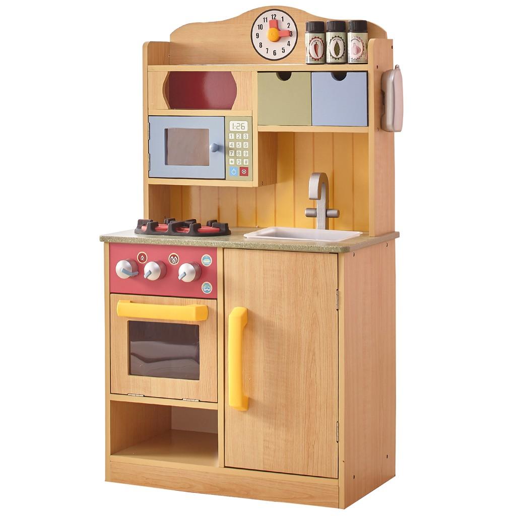 Teamson 佛羅倫斯木製廚房玩具(木紋)