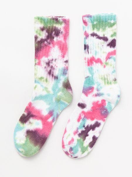 紮染中筒襪25〜28cm