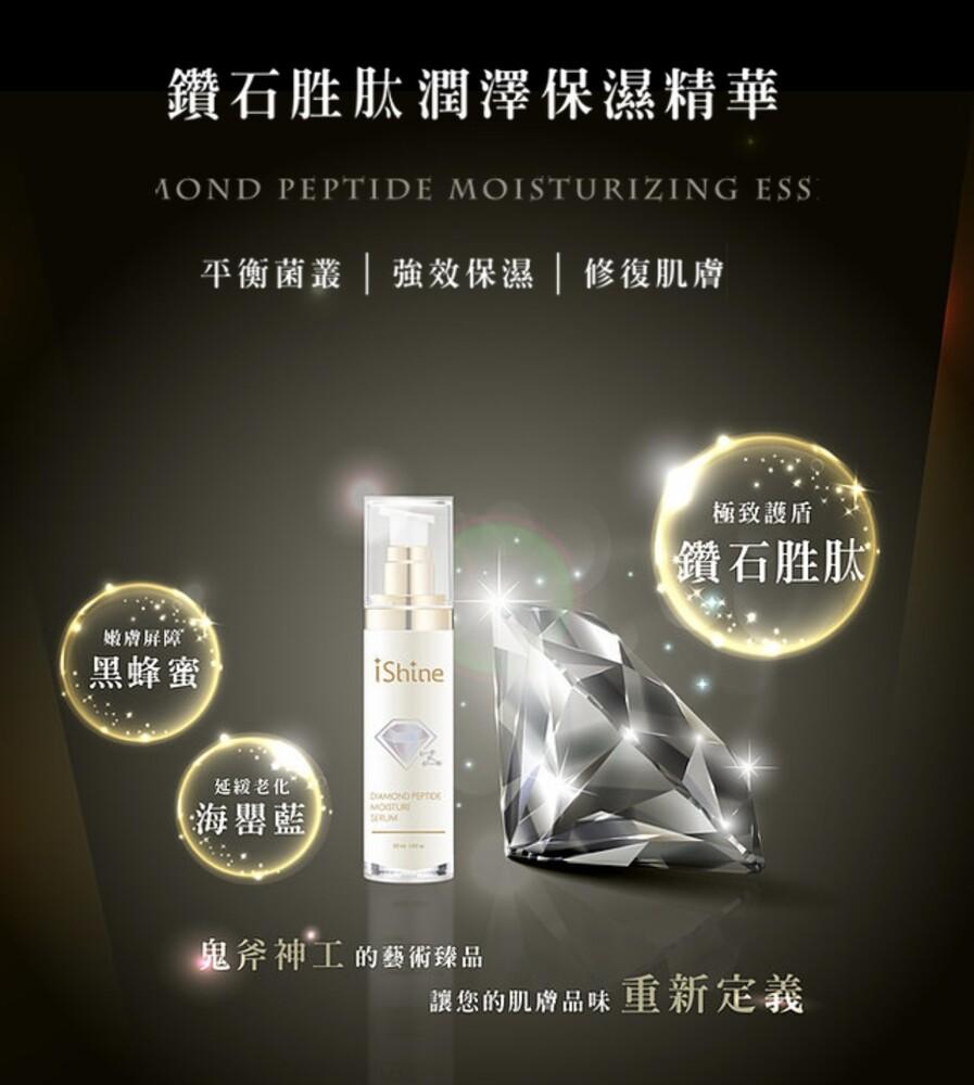 愛閃耀ishine鑽石胜肽潤澤保濕精華50ml 貴婦級保養台灣製造