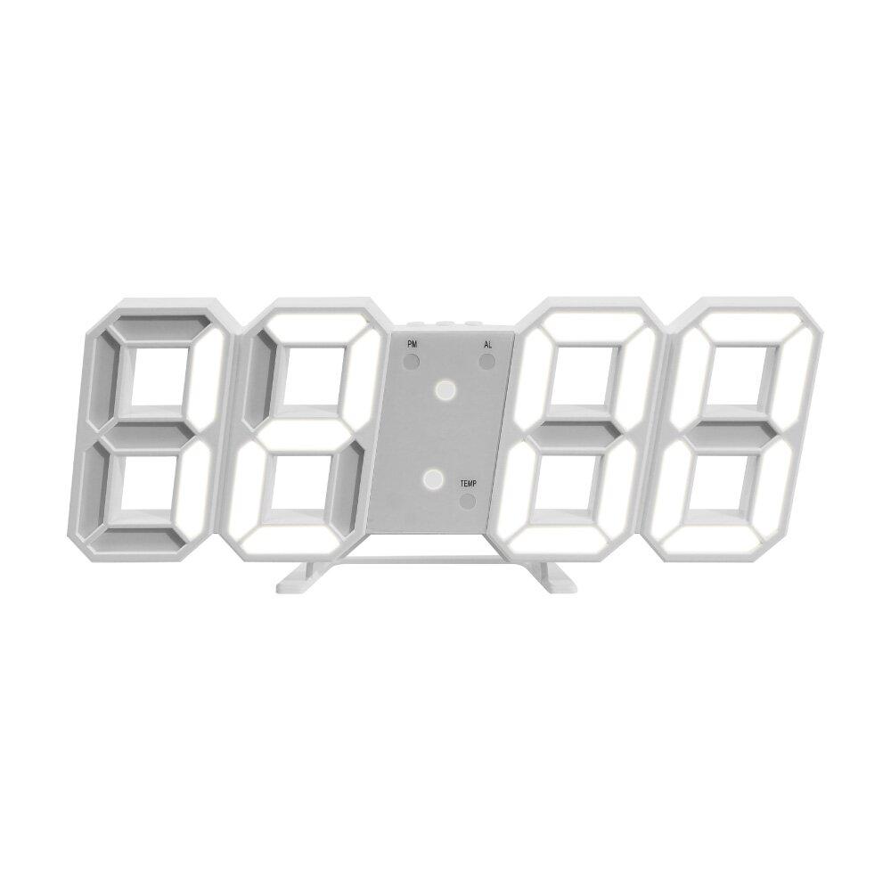 LED數字時鐘掛鐘-白殼白字