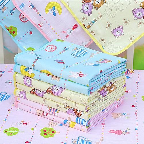 嬰兒防水尿墊套卡通棉可重複使用的可水洗尿墊