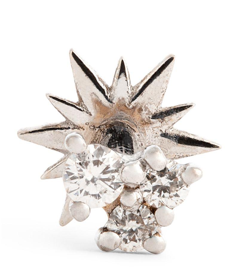 Djula White Gold And Diamond Fairytale Bar Earring