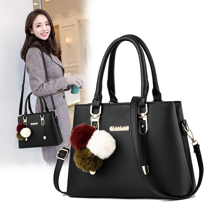 包包女新款質感手提包時尚大容量中年女包大氣單肩斜挎包