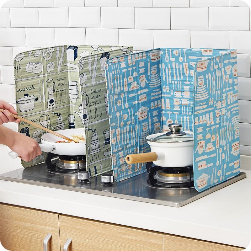 瑤瑤家居 廚房炒菜防油擋板 家用灶臺防濺擋油板煤氣灶隔熱板隔油板