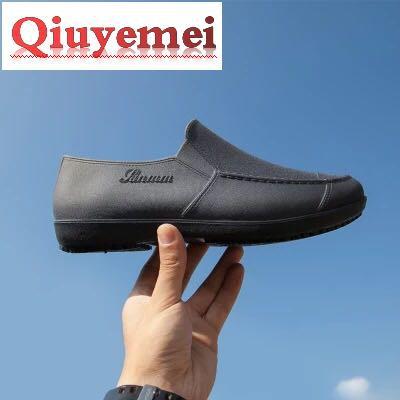 【現貨】雨鞋男低幫時尚短筒防水鞋雨靴男防滑膠鞋廚房工作套鞋釣魚懶人鞋