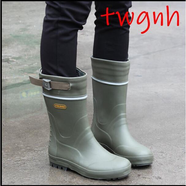 【運動專營店】時尚男女通用情侶雨鞋摩托車用雨鞋登山雨鞋橡膠雨鞋