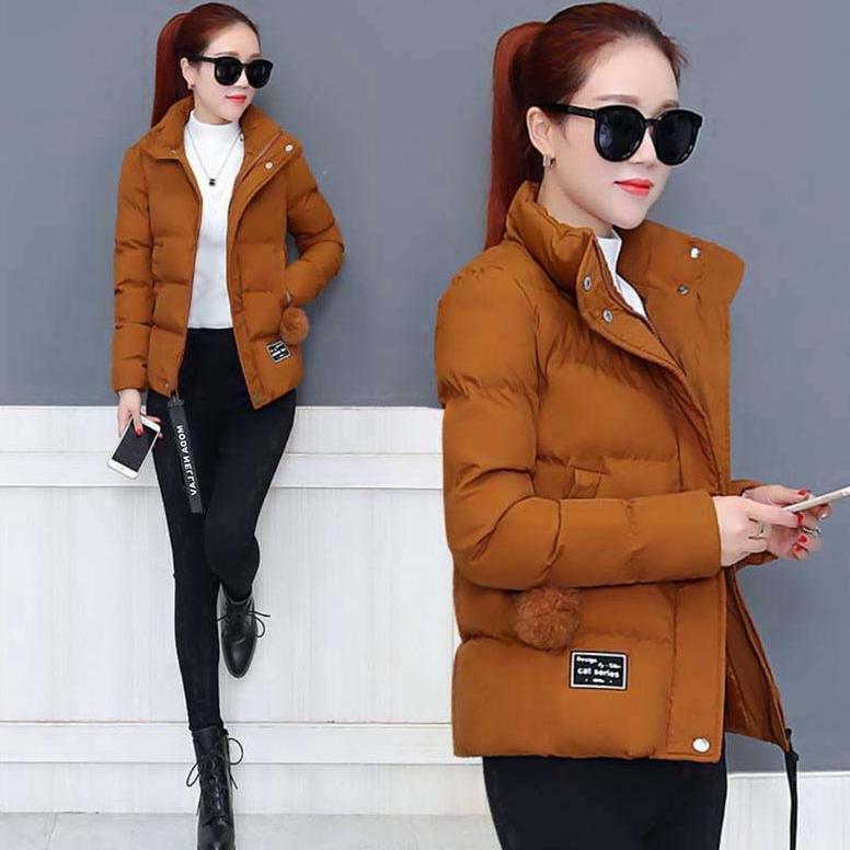 冬季新款加厚保暖棉服 韓版寬鬆棉衣女 短款時尚小棉襖百搭外套