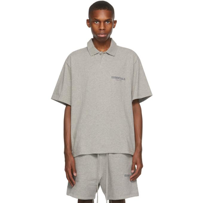 Essentials 灰色徽标 Polo 衫